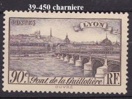 FRANCE ANNEE 1939 N° 450 NEUF Charniere Ou Trace