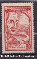 FRANCE ANNEE 1939 N° 442 NEUF Charniere Ou Trace