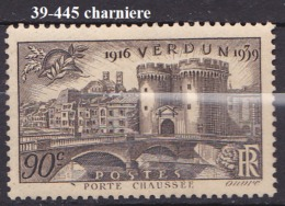 FRANCE ANNEE 1939 N° 445 NEUF Charniere Ou Trace