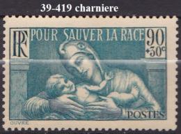 FRANCE ANNEE 1939 N° 419 NEUF Charniere Ou Trace