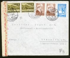 A4308) Türkei Turkey Brief Von Galata Istanbul 23.11.43 Nach Chemnitz Mit Zensur - 1921-... Republik