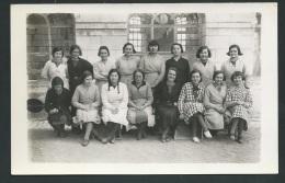 Cpa Photo , Classe De Filles , Localisée à Tours Rue Des Ursulines  ( 1934 /1935 D'après L'archive  - Obe0304
