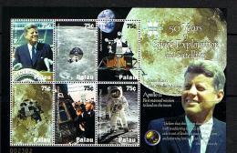 Palau 2008 Sc # Bf 942  MNH **  MNH **  John F. Kennedy - Space Exploration