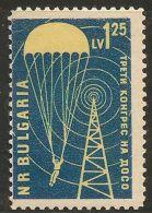 Bulgaria 1959 Congress For Aid Organization DOSO, Parachute Transmitting Tower 1 Value MNH