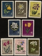 Bulgaria 1963 Flowers Nature Protection Akelei Columbine Edelweiss Anemone Forest Vine Primrose Water Lily  8 Values MNH