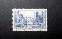 FRANCE 1929 N°261II OBL. (PORT DE LA ROCHELLE. 10F BLEU. TYPE II)