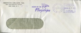 14959 U.s.a.  Red Meter Freistempel EMA, 1941 Flushin New York Route Of The Flagships,  Circuled Cover