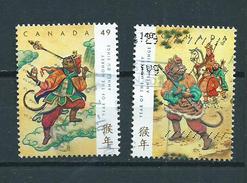 2004 Canada Complete Set Year Of The Monkey,apen,affen Used/gebruikt/oblitere