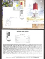 Lighthouses  2016 Estonia Stamp Presentation Card (engl) Virtsu Lighthouse