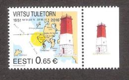 Lighthouses  2016 Estonia MNH Stamp With Label Virtsu Lighthouse