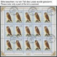 SAO TOME UND PRINCIPE 879-900 O, 1983, Vögel Im Bogensatz, Pracht, Mi. (954.-)
