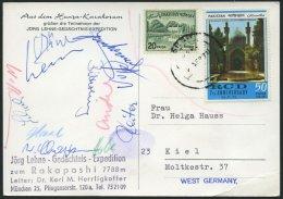 PAKISTAN 1970, Jörg Lehne Gedächtnis-Expediton Zum Rakaposhi, Leiter: Dr. Karl M. Herrligkoffer, Ansichtskarte