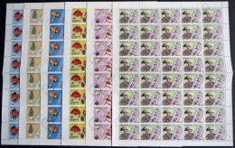 GUINEA-BISSAU O, 1988/9, Pilze (Mi.Nr. 989-94, Ohne 945 P.) In Bogen (40), Früchte (Mi.Nr. 1026-32) Und Tiere (Mi.N