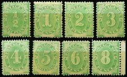 PORTOMARKEN P 1-12I *, 1902, Ziffer, Type I, Falzreste, Prachtsatz (8 Werte), Mi. 504.-