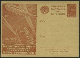 GANZSACHEN P 91.II BRIEF, 1930, 5 K. Zeppelin-Ganzsachenkarte, Bild 56 (5/XII-1930), Ungebraucht, Pracht
