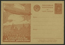 GANZSACHEN P 91.II BRIEF, 1930, 5 K. Zeppelin-Ganzsachenkarte, Bild 51 (7643), Ungebraucht, Pracht