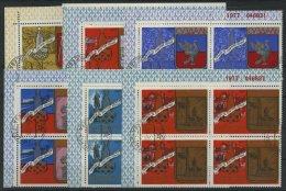 SOWJETUNION 4686-91 VB O, 1977, Olympische Sommerspiele Je In Eckrandviererblocks, Prachtsatz, Mi. (72.-)