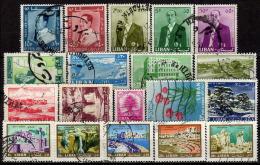 LIBANON 1960-1966 - Lot 19 Verschiedene  Used - Libanon