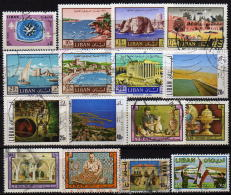 LIBANON 1967-1980 - Lot 16 Verschiedene  Used - Libanon