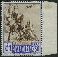 SAN MARINO 449 **, 1950, 250 L. San Marino, Pracht, Mi. 180.-