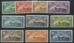 SAN MARINO 165-74 *, 1931, Flugpostmarken, Falzrest, Prachtsatz