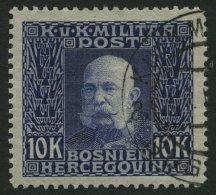 BOSNIEN UND HERZEGOWINA 84 O, 1914, 10 Kr. Violett Auf Grau, Pracht, Mi. 170.-