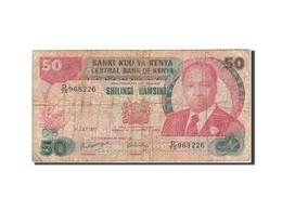 Kenya, 50 Shillings, 1980-1981, 1987-07-01, KM:22d, B - Kenya
