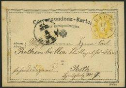 GANZSACHEN P 20 BRIEF, 1873, 2 Kr. Gelb, Karte (Poln.) Von ZYBACZOW Nach Pesth, Feinst