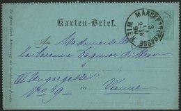 GANZSACHEN K 1a BRIEF, 1890, 3 Kr. Grün, Orts-Kartenbrief (deutsch), Grün, Mit K1 MARDKKANERGASSE WIEN, Pracht