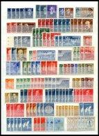 SAMMLUNGEN, LOTS **, Postfrische Dublettenpartie Norwegen Von 1945-80, Dabei U.a. Mi.Nr. 442/3 (12x), 471-75 (6x) Etc.,
