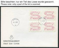 NORWEGEN A BRIEF, Automatenmarken: 1988-97, Mi.Nr. A 3.2d S3-6,8 Und 9, 6 Verschiedene FDC, Pracht
