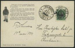 NORWEGEN 78 BRIEF, 1924, Fram - Karte, Von POLHAVET Nach Christiania, Pracht