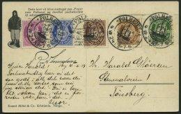 NORWEGEN 76--78,81/2 BRIEF, 1924, Fram - Karte, Von POLHAVET Nach Deutschland, Bunte Frankatur, Pracht