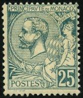 MONACO 16 *, 1891, 25 C. Grün, Falzrest, Pracht, Mi. 300.-