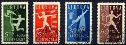 LITAUEN 417-20 O, 1938, Nationale Sportspiele, üblich Gezähnter Prachtsatz, Mi. 60.-