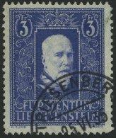 LIECHTENSTEIN 141I O, 1933, 3 Fr. Fürst Franz I, Pracht, Fotoattest Marxer, Mi. 280.-