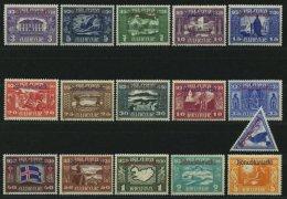 DIENST D 44-59 *, 1930, Allthing, Falzreste, Prachtsatz, Facit 6500.- Skr.