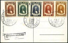 ISLAND 231-36 BRIEF, 1944, Sigurdsson Auf Ersttagskarte, Feinst, Mi. 100.-