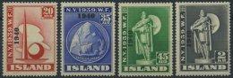 ISLAND 218-21 **, 1940, Weltausstellung 1940, Prachtsatz, Mi. 220.-