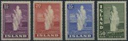 ISLAND 193-96 **, 1938, Geysir, Prachtsatz, Mi. 110.-
