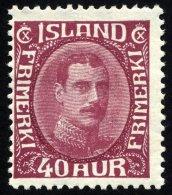 ISLAND 164 *, 1932, 40 A. König Christian X, Falzrest, üblich Gezähnt Pracht, Facit 2000.- Skr.