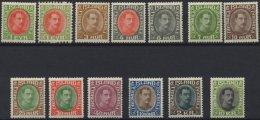 ISLAND 156-67 *, 1931-37, König Christian X, Falzrest, Prachtsatz, Facit 7700.- Skr.