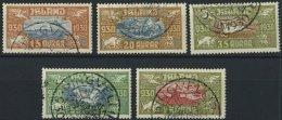 ISLAND 142-46 O, 1930, Flugpostmarken Allthing, Prachtsatz, Mi. 300.-