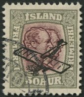ISLAND 123 O, 1929, 50 A. Grau/braunlila, Pracht, Mi. 100.-
