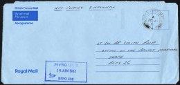 BRITISCHE MILITÄRPOST 1983, K2 FIELD POST OFFICE/141 Auf Aerogramm Mit Eingangsstempel Des Britischen Feldpostamtes