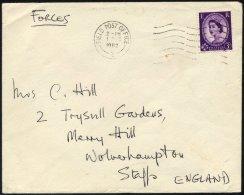 BRITISCHE MILITÄRPOST 323 BRIEF, 1962, 3 P. Bläulichviolett Mit Maschinen-Feldpoststempel FIELD POST OFFICE/2