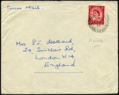 BRITISCHE MILITÄRPOST 261 BRIEF, 1954, 21/2 P. Karminrot Mit K2 FIELD POST OFFICE/158 Auf Feldpostbrief Nach London