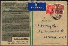 BRITISCHE MILITÄRPOST 222/3 BRIEF, 1951, 1 Und 11/2 P. König Georg VI Mit K2 FIELD POST OFFICE/630 Auf Feldpos