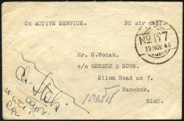 BRITISCHE MILITÄRPOST 1946, Luft-Feldpostbrief Aus Dem Hauptquartier Der Britisch-indischen Truppen In Burma, Prach