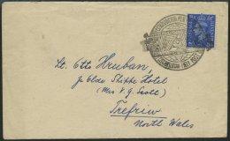 BRITISCHE MILITÄRPOST Ca. 1944, 21/2 P. Blau Auf Brief Mit Tschechischem Feldpoststempel Nr. 22, Pracht